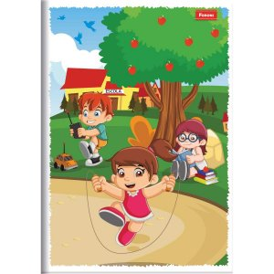 Caderno Brochurão Capa Infantil 80 Folhas Foroni