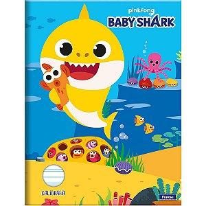 Caderno Caligrafia Capa Dura Baby Shark 40fls. Foroni