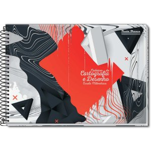 Caderno Desenho Milimetrado 60fl. Univ Esp Capa Dura Pauta Branca