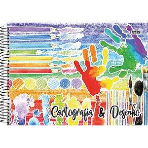 Caderno Desenho Univ Capa Dura 60f Espiral Sao Domingos