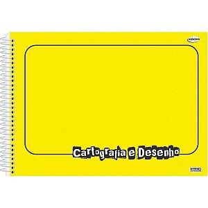 Caderno Desenho Univ Capa Dura Amarelo 60fls Sao Domingos