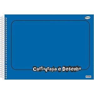 Caderno Desenho Univ Capa Dura Azul 60fls Sao Domingos