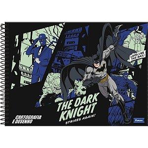 Caderno Desenho Univ Capa Dura Batman 96f Espiral Foroni