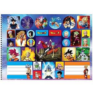 Caderno Desenho Univ Capa Dura Dragon Ball Super 60fls Sao Domingos