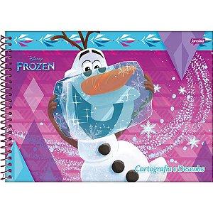 Caderno Desenho Univ Capa Dura Frozen 96fls. Jandaia