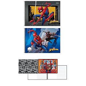 Caderno Desenho Univ Capa Dura Spider-Man 80fls. Tilibra