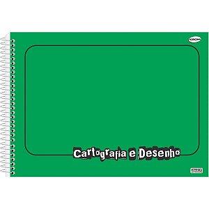 Caderno Desenho Univ Capa Dura Verde 60fls Sao Domingos