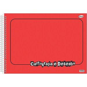 Caderno Desenho Univ Capa Dura Vermelho 60fls Sao Domingos