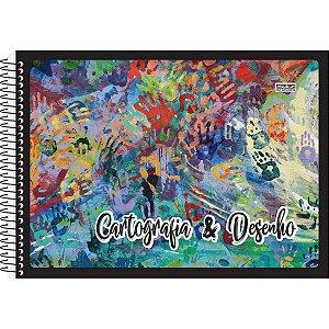 Caderno Desenho Universitário 48f Espiral Capa Duplex Sao Domingos
