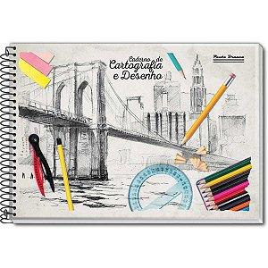 Caderno Desenho Universitário 48fls. Pauta Branca