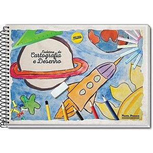 Caderno Desenho Universitário 96fls. Pauta Branca