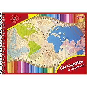 Caderno Desenho Universitário Basic Art 96fls. Esp. Horiz. Jandaia