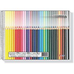 Caderno Desenho Universitário Flexivel 80f Espiral Horizont. Tamoio