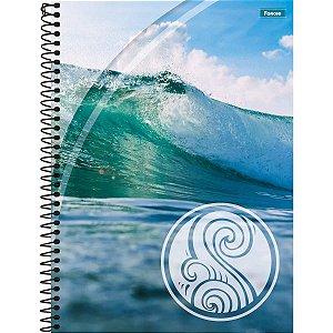 Caderno Espiral 1/4 Capa Dura Quatro Elementos 200fls. Foroni