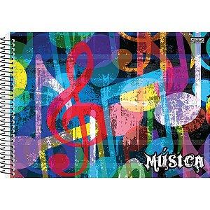 Caderno Música 1/4 40f Espiral Flexivel Sao Domingos