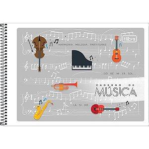 Caderno Música 1/4 48f Espiral Flexivel Tilibra