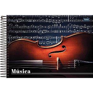 Caderno Música 1/4 96fls. Capa Dura Horizonta Foroni
