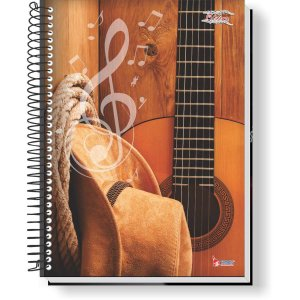 Caderno Música 64f Univ. Espiral Vert Tamoio