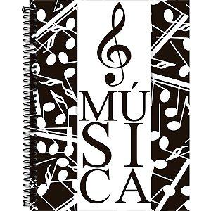 Caderno Música Cad+Liv.C/Teoria Mus.Cd70f Romitec