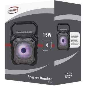 Caixa Acústica Bomber Bluetooh 15w Aux/Usb/Sd Newex