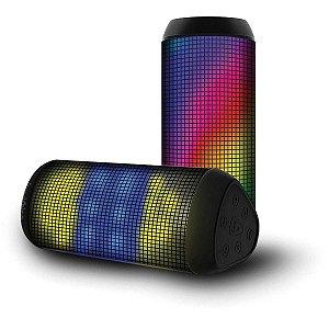 Caixa Acústica Mini Portatil C/Bluetooth/Led Md Tecnologia