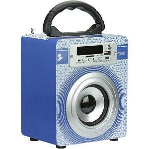 Caixa Acústica Portatil 5w Rms Usb/Fm/Bluetoo Santana Centro