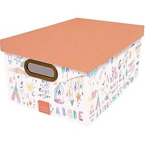Caixa Organizadora Decorada Media 38x29x18,5cm. Crianca Dello