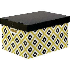 Caixa Organizadora Decorada Prontobox Losangos Grande Polycart