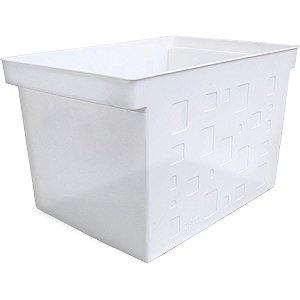 Caixa Organizadora Multiuso Larga Cristal S/Tampa Dello
