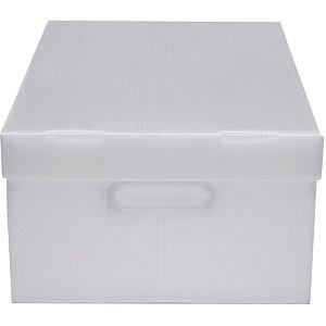 Caixa Organizadora Novaonda Cristal Gd 45x33x26 Polibras