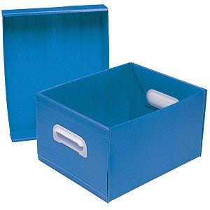 Caixa Organizadora The Best Box M 370x280x212 Az Polibras