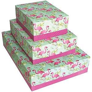 Caixa Para Presente Com Tampa Maravilha Md 26x19x7,5cm Cristina