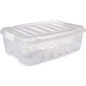 Caixa Plástica Multiuso Gran Box Baixa Incolor 9,3l Plasutil