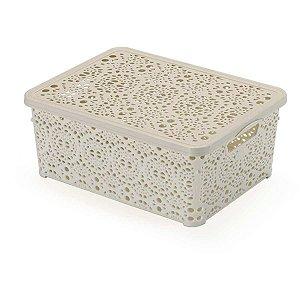 Caixa Plástica Multiuso Mini Mandala Areia 3,5l Monte Libano