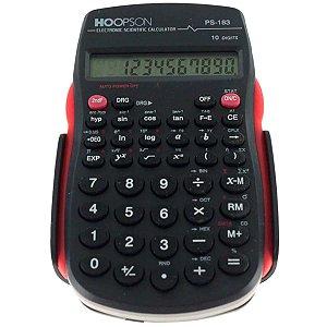 Calculadora Cientifica 56 Funcoes 10dig. Bateria Pret Hoopson
