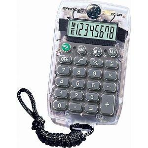 Calculadora De Bolso 8 Dig. Pc033 Transparente Procalc
