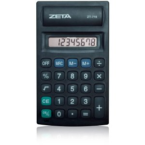 Calculadora De Bolso 8dig. Pilha Aa Preta Procalc