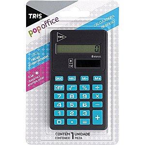 Calculadora De Bolso Tris Pop Azul/Pt 8digitos Bat. Summit