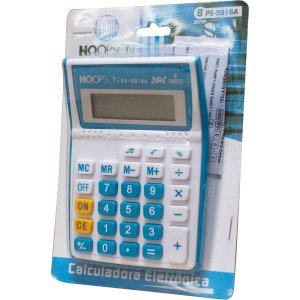 Calculadora De Mesa 08 Digitos Bateria Cores Sort. Hoopson