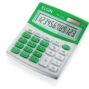 Calculadora De Mesa 12 Dig.Mv4126 Vis/Sl/Ba Azul Elgin