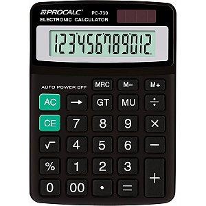 Calculadora De Mesa 12dig. Pc730 Preta Procalc