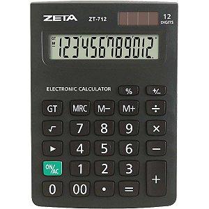 Calculadora De Mesa 12dig. Zetta Zt712 Preta Procalc