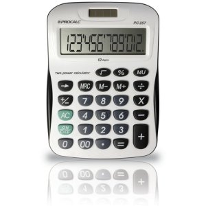 Calculadora De Mesa 12dig.Visor Inc.Roll Over Procalc