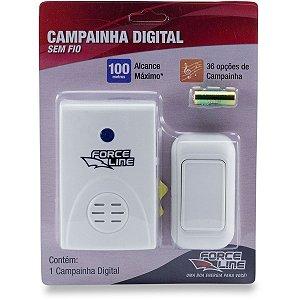 Campainha De Chamada Digital Sem Fio Force Line