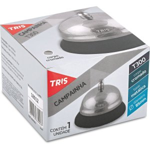 Campainha De Chamada Tris T300 Metalica 85x55mm Summit