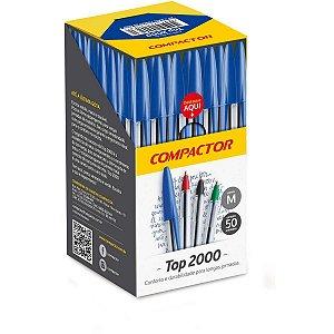 Caneta Esferográfica Top 2000 Azul Compactor