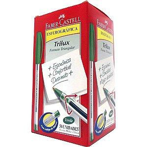 Caneta Esferográfica Trilux Ponta Media Verde Faber-Castell