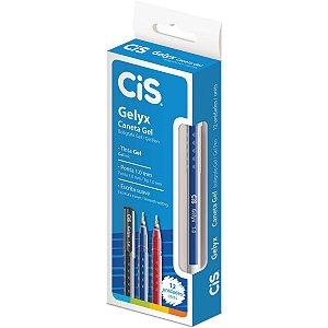 Caneta Gel Cis Gelyx Azul 1,0mm Sertic