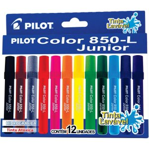 Caneta Hidrográfica Color 850l Junior 12 Cores Pilot