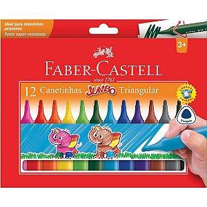 Caneta Hidrográfica Jumbo Triangular 12 Cores Faber-Castell